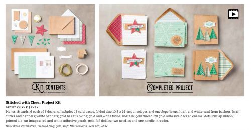 Stitched With Cheer Project Kit Stampin' Up!