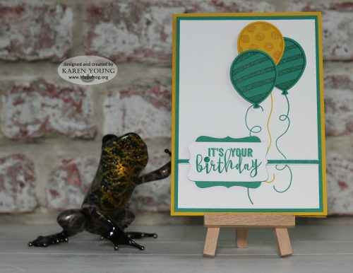 Stampin' Up! Balloon Adventures Card & Cuppa