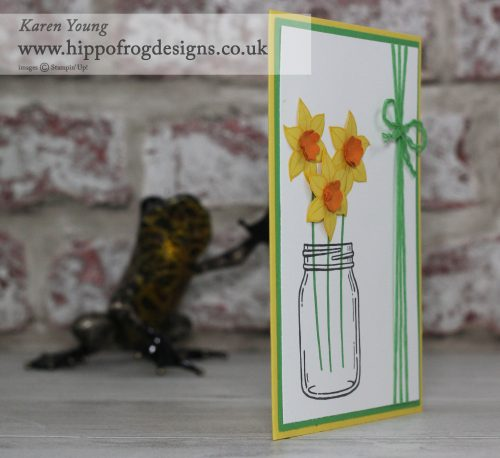 Falling Flowers Daffodil Punch Art Stampin' Up!
