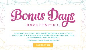Stampin' Up! Bonus Days