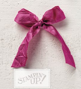 Stampin' Up! Berry Burst Crinkled Seam Binding Ribbon