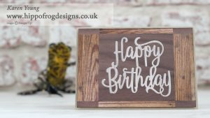 Stampin' Up! Happy Birthday Thinlit