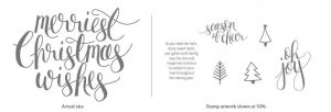 Stampin' Up! Watercolor Christmas Project Kit Stamps
