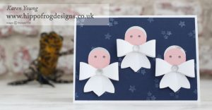 Bow Builder Punch Christmas Angels with HIPPOFROG Designs