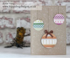 Stampin' Up! Washi Tape Baubles with HIPPOFROG Designs