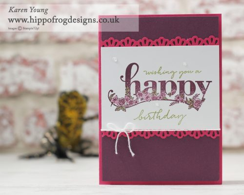 Stampin' Up! Happy Wishes with HIPPOFROG Designs