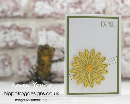 Daisy Delight from Stampin' Up! with HIPPOFROG Designs