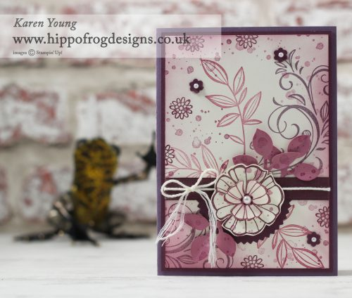 Falling Flowers from Stampin' Up with HIPPOFROG Designs