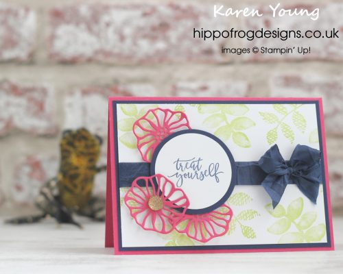 Oh So Eclectic Stamp Set from Stampin' Up! Birthday Card designed by Karen Young at HIPPOFROG Designs