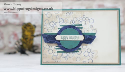 Stampin' Up! Playful Backgrounds with HIPPOFROG Designs