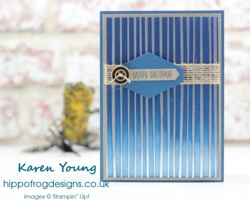 Springtime Foils from Stampin' Up! - Birthday Card project from HIPPOFROG Designs