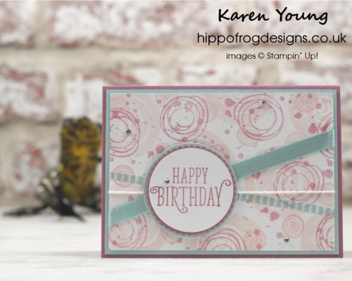 Swirly Bird Stamp Set from Stampin' Up! Card & Cuppa Class project with HIPPOFROG Designs
