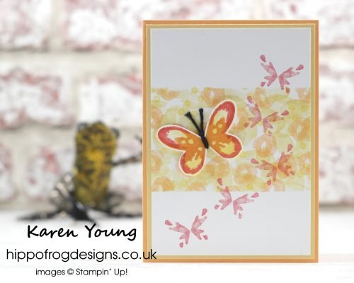 Watercolor Wings Stamp Set from Stampin' Up! Card & Cuppa Class project with HIPPOFROG Designs
