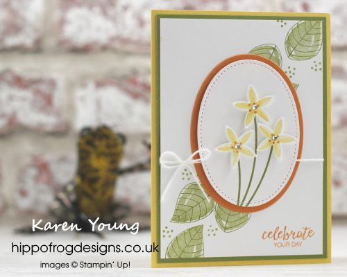 Bunch of Blossoms Stamp Set from Stampin' Up! Project by Karen Young at HIPPOFROG Designs hippofrogdesigns.co.uk