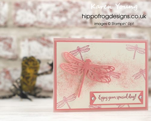 Dragonfly Dreams Stamp Set and Touches of Texture Stamp Set from Stampin' Up! Project by Karen Young at HIPPOFROG Designs hippofrogdesigns.co.uk