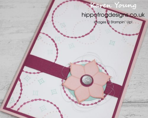Card & Cuppa Project with Karen Young from HIPPOFROG Designs. Using Eastern Beauty from Stampin' Up!