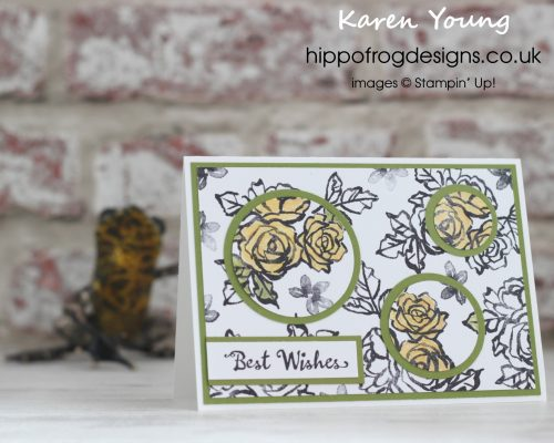 Card & Cuppa Project using Petal Palette from Stampin' Up! with Karen Young at HIPPOFROG Designs