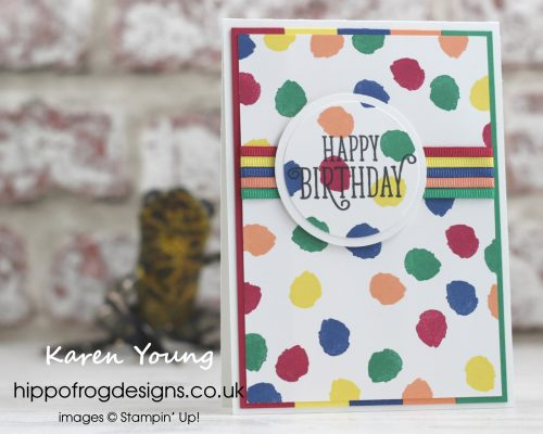 Birthday Card designed by Karen Young at HIPPOFROG Designs using In Colour Collection 2018 from Stampin' Up!