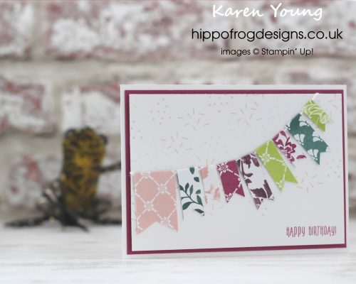 In Color Banners Card & Cuppa Project from Karen at HIPPOFROG Designs