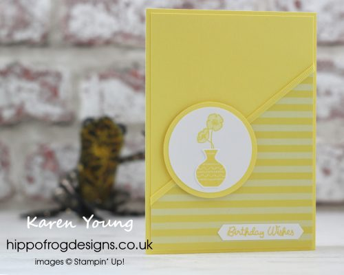 In Color Pineapple Punch from Stampin' Up! Project designed by Karen Young at HIPPOFROG Designs