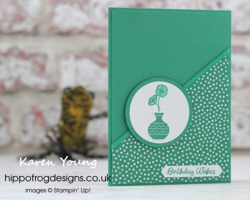 In Color Call Me Clover from Stampin' Up! Project designed by Karen Young at HIPPOFROG Designs