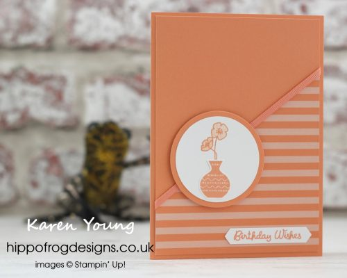 In Color Grapefruit Grove from Stampin' Up! Project designed by Karen Young at HIPPOFROG Designs