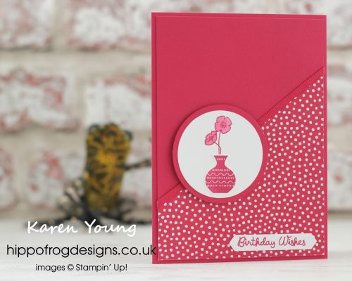 In Color Lovely Lipstick from Stampin' Up! Project designed by Karen Young at HIPPOFROG Designs