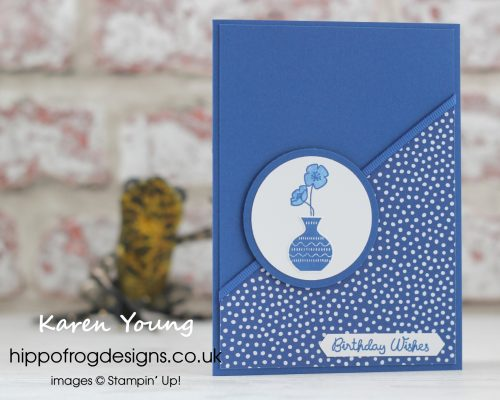 In Color Blueberry Bushel from Stampin' Up! Project designed by Karen Young at HIPPOFROG Designs