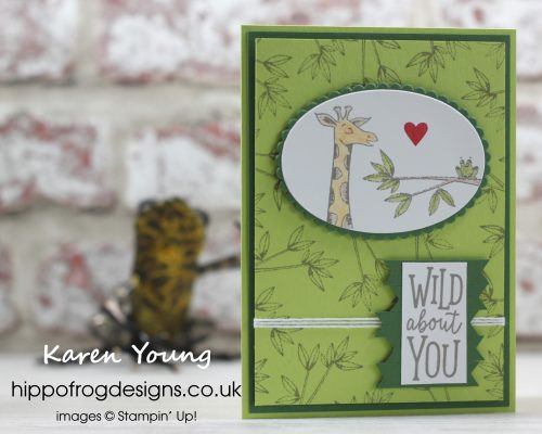 Anniversary Card using Animal Outing from Stampin' Up! Project designed by Karen Young at HIPPOFROG Designs