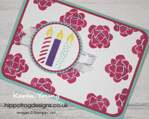Picture Perfect Birthday Card & Cuppa project. Designed & taught by Karen at HIPPOFROG Designs