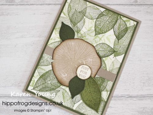 Card & Cuppa project using Rooted in Nature Stamp Set from Stampin' Up! Project designed & taught by Karen Young at HIPPOFROG Designs