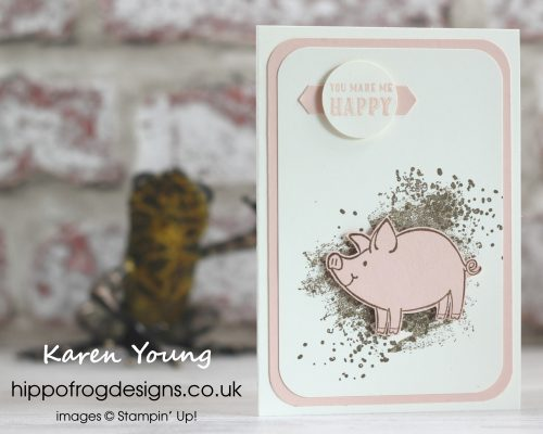This Little Piggy and Artisan Texture Stamp Sets from Stampin' Up! Project designed and made by Karen Young at HIPPOFROG Designs