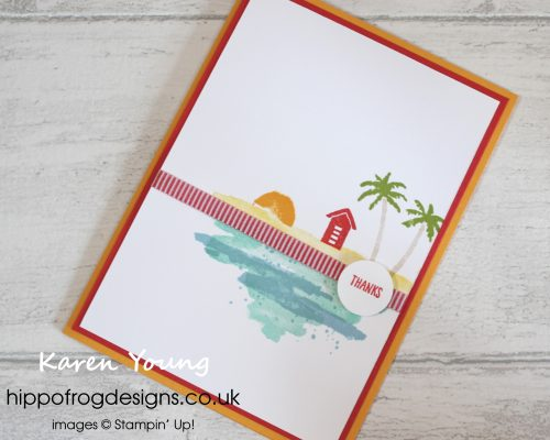 Waterfront Stamp Set from Stampin' Up! Project designed by Karen Young at HIPPOFROG Designs
