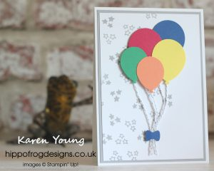 Ballon Celebation meets this year's In Color Collection. Project designed by Karen Young at HIPPOFROG Designs