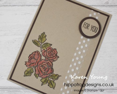 Card & Cuppa project using Petal Palette. Designed by Karen at HIPPOFROG Designs