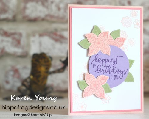 Pop of Petals Bundle. Project designed by Karen at HIPPOFROG Designs