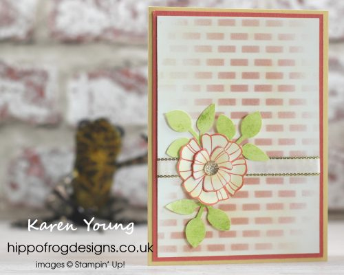 Card & Cuppa project using sponges. Designed by Karen at HIPPOFROG Designs