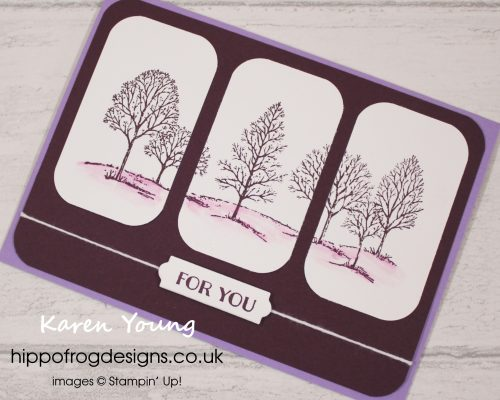 Lovely as a tree in shades of purple. Project designed by Karen at HIPPOFROG Designs