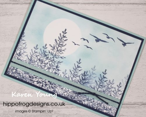 Lovely as a Tree serene scene. Designed by Karen at HIPPOFROG Designs