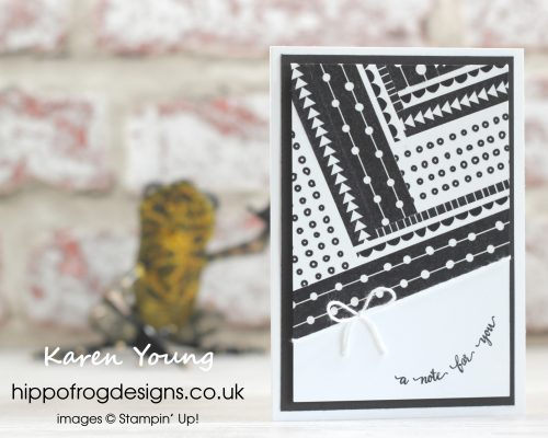 Simple Monochrome Washi Tape Card. Designed by Karen at HIPPOFROG Designs