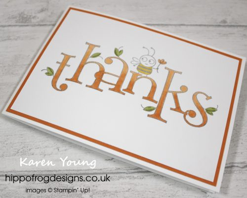 Bee Thankful from Stampin' Up! Project designed by Karen Young at HIPPOFROG Designs