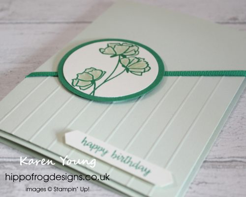 Soft Sea Foam Birthday Card. Designed by Karen Young at HIPPOFROG Designs