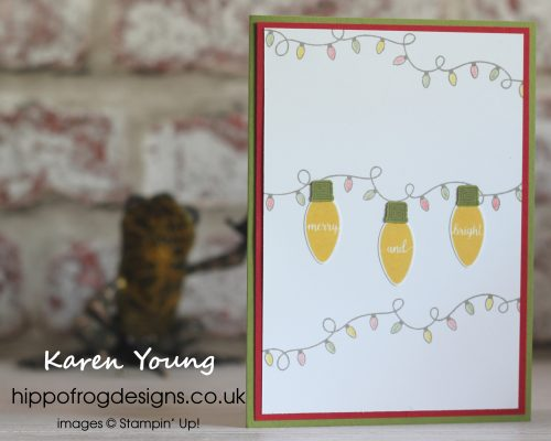 Making Christmas Bright project for Christmas Card Boot Camp. Designed by Karen at HIPPOFROG Designs