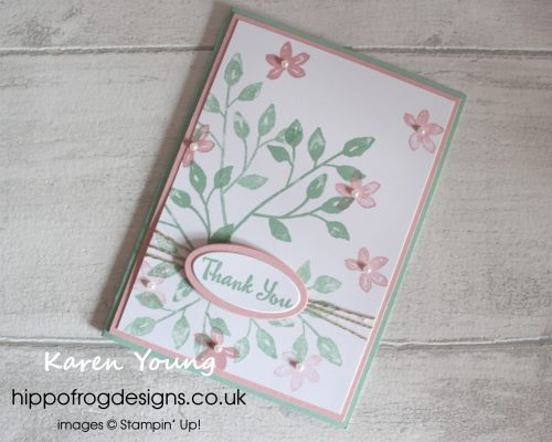 Petal Palette Thank You Card. Designed by Karen at HIPPOFROG Designs