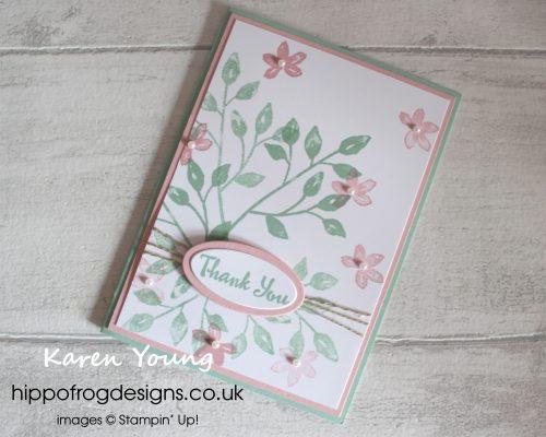 Petal Palette Thank You Card. Designed by Karen at HIPPOFROG Designs
