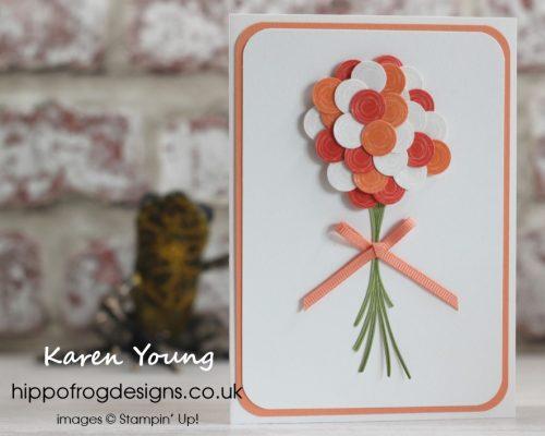 Swirly Bird Wedding Bouquet. Designed by Karen at HIPPOFROG Designs