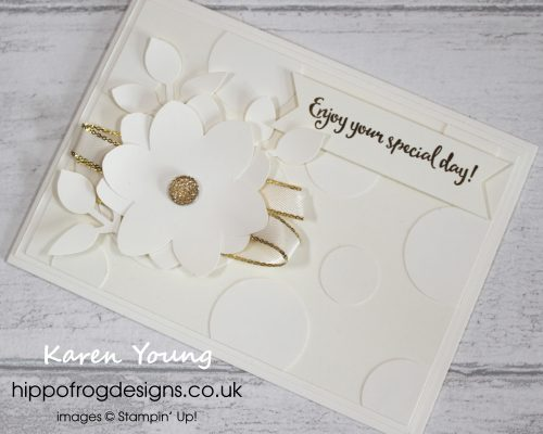 Very Vanilla Card & Cuppa Project. Designed by Karen at HIPPOFROG Designs