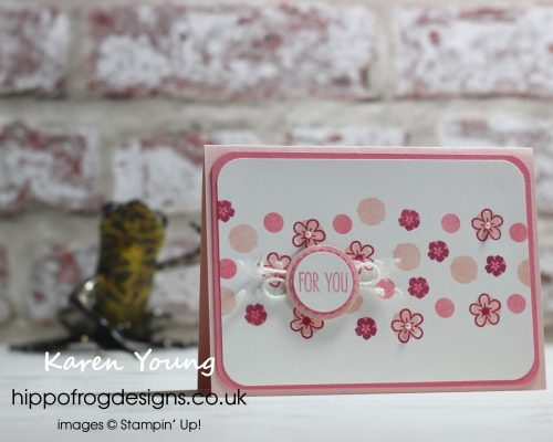 Flowers and Dots. Designed by Karen at HIPPOFROG Designs