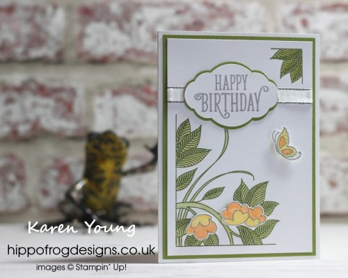Serene Garden Card & Cuppa Project. Designed by Karen at HIPPOFROG Designs