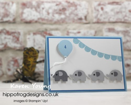 Four Little Elephants. Project Designed by Karen at HIPPOFROG Designs
